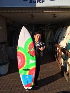 JUSTICE surf board BUCK PUCK