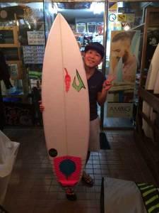 JUSTICE surfboard chilli OHONE model