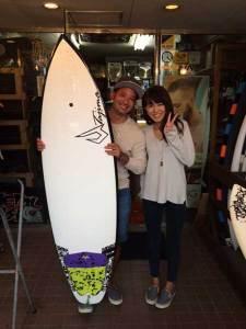JUSTICE surfboard FLEX FLY FOP 5'11 WHT