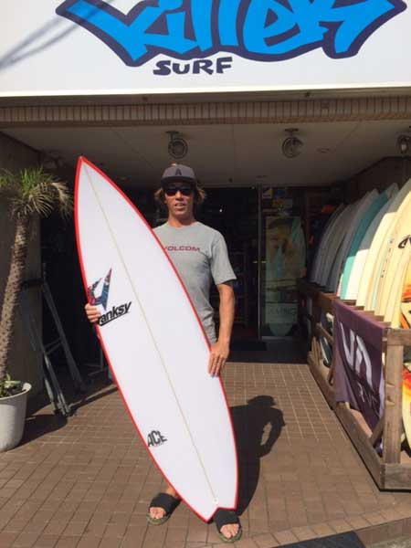 JUSTICE surf board THE ACE model