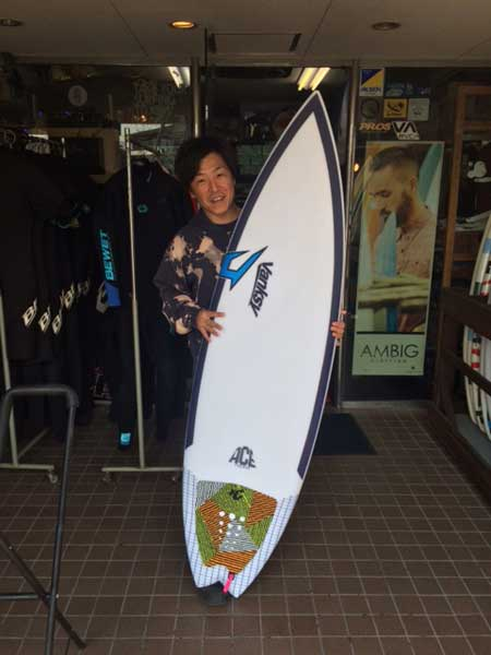 JUSTICE surfboard THE ACE 50/50
