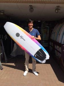 JUSTICE surf board Barracuda model