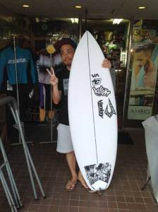 JUSTICE surf board DRAGON FLY