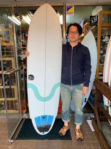 サーフボード クロスギア  ドロップモデル EPS 初心者